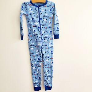 3/$25 Gymboree one piece size 5 train pajamas